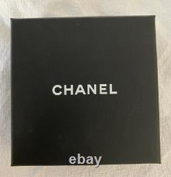 Chanel Brooch Large Jumbo Silver Marcasite Black Antique Diamante Pearl A15 K