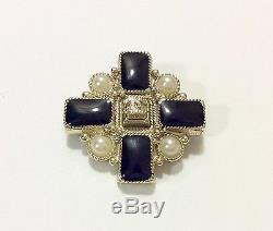 Chanel Brooch Silver & Black Colour Used