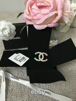Chanel CC ombre rainbow brooch pin Cuba RAREsold out
