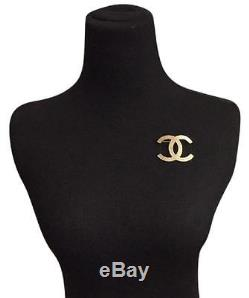 Chanel Cc Logo Large Gold Classic Brooch NWT