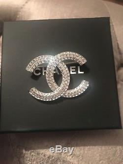 Chanel Crystal Cc Brooch Sold Out Brand New In Box