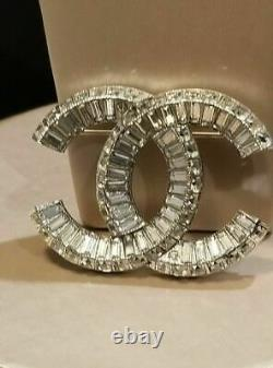 Chanel Crystal Couture CC Baguette Classic Brooch Pin