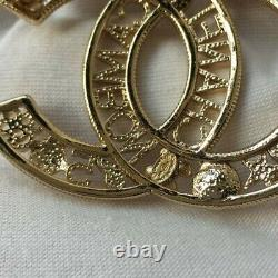 Chanel Crystal Couture CC Baguette Classic Brooch Pin, Pre-owned