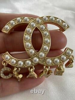 Chanel Drop Letter Brooch In 18 Carat Gold Plate
