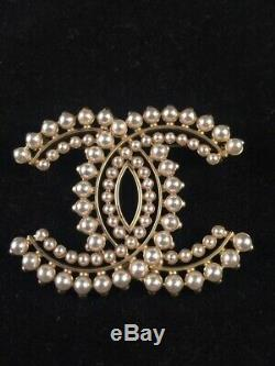 Chanel Light Gold Brooch Authentic
