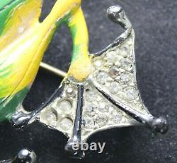 Chanel Novelty Company Frog Costume Brooch Unsigned 1940's Vintage