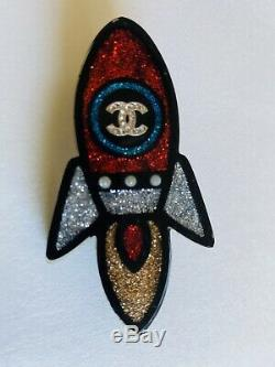 Chanel Pin Brooch Rocket Authentic! HARD TO FIND! CC Brooch 2017 Summer