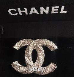 Chanel Rhinestones CC Logo Vip Brooch Pin With Small Pouch Bag