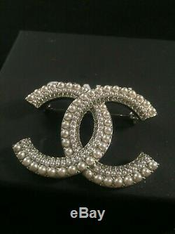 Chanel Sivler Brooch Authentic