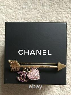 Chanel St Valentines DAy Brooch Pink Hearts Arrow
