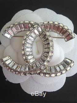 Chanel Top Iconic CC Classic Crystal Dress Pin Brooch New Gorgeous