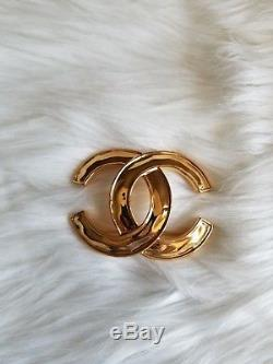 Chanel authentic gold color vintage brooch