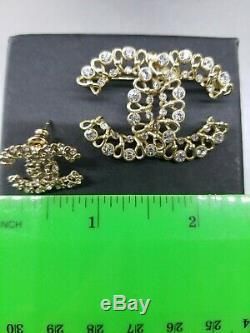 Classic Chanel Brooch And Earrings Set