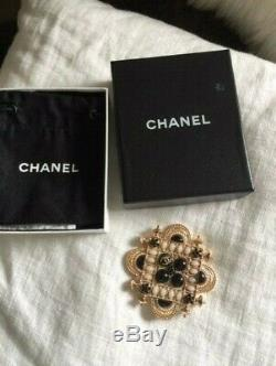 Coco Chanel LARGE Temple Style brooch boxed & Chanel hallmarked Karl Lagerfeld