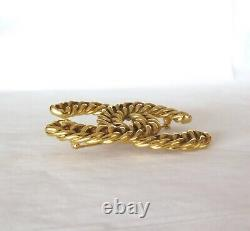 Heavy Vintage Chanel Gold Toned Chainlink 1107 Brooch Collectable