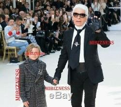 Legendary Karl Lagerfeld & His Pet Choupette Nwt Chanel Crystal Cat Brooch Pin