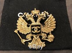 Most Wanted Chanel Moscow 09a Dimitri CC Eagle Gold Pin Brooch For Jacket
