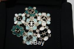 NEW Chanel Turquoise/Gold/Pearl Brooch
