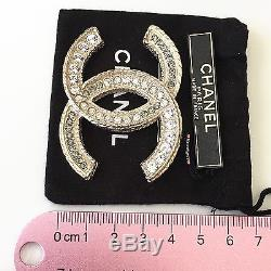 NWT 2012 XL CHANEL CC Crystal Couture Brooch Pin A61703 SOLDOUT RARE
