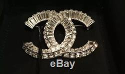 NWT 2015 XL CHANEL CC Crystal Couture Brooch Pin Strass A63085 Y02003 SOLDOUT