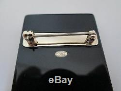 NWT Auth Chanel Sewing Kit Needle Thread Black Lucite Pin Brooch with Box RARE