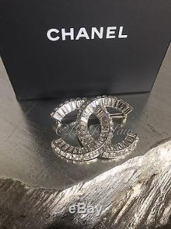 NWT CHANEL CRYSTAL BROOCH 2018 XL CC Strass Crystal Couture Baguette Pin 2019