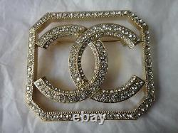 New Chanel A2018p CC Logo Intimate Technology Crystal Pin/brooch