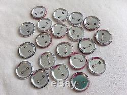 New Set of 20 pcs CHANEL Beauty Rouge PROMO BROOCH PIN BADGE Rare & Collectible