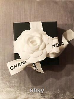 New and Authentic Chanel CC logo brooch pin