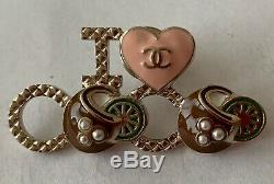 Pre-owned Authentic Chanel Runway I Love Coco Cuba Cruise 2017 Brooch/Pin