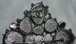 RARE 09P Chanel Runway Black Pearl Large Brooch Pin for Necklace NEW NIB