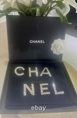 SOLD OUT 2019 RUNWAY CHANEL LETTER LOGO CRYSTAL PIN BROOCH SET of 6