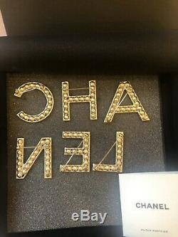 Sold Out 2019 Chanel Crystal Letter Logo Pin Brooch Set Of 6