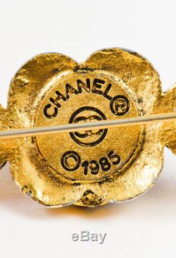 VINTAGE Chanel Multicolor Gold Tone Gripoix Stone Faux Pearl & Crystal Pin