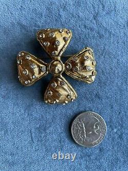 Vintage Chanel Byzantine Cross Or Bow Style Brooch or Pendant