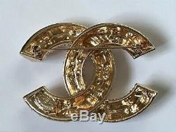 Vintage Chanel Faux Pearl And Gold CC Brooch Rare