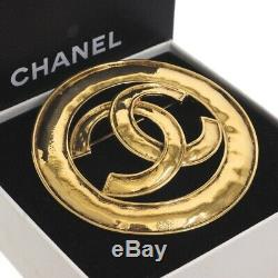 Vintage Chanel Never Used NWT XL 94P Jumbo Gold Pin Brooch. NFV5490