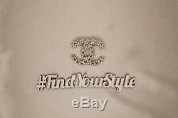 (sale 29th)Chanel Snow Style Gold Full Pearls Crystal Classic CC Pin Brooch